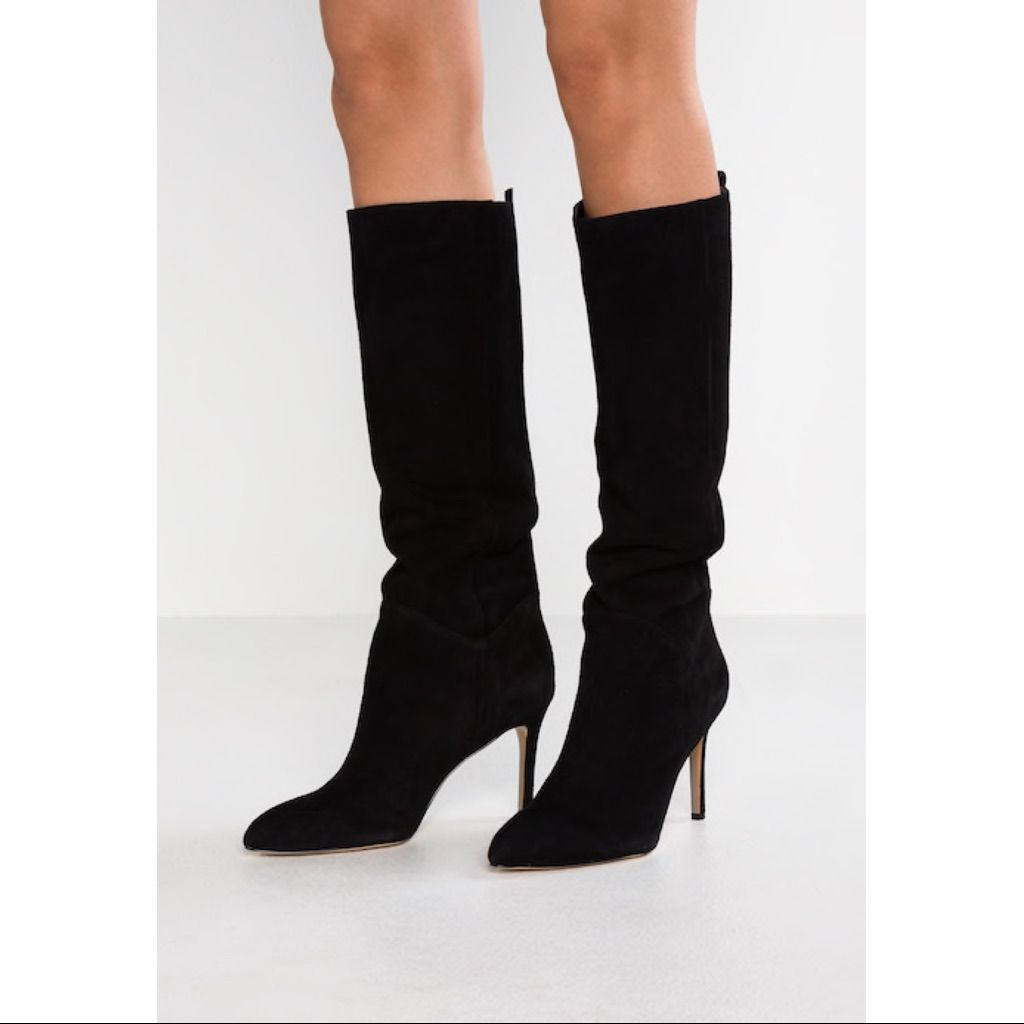 Olen, Black Suede tall boots (With