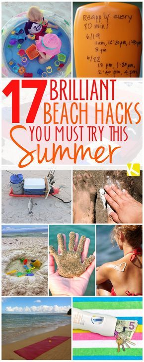 17 Brilliant Beach Hacks You Must Try This Summer   Summer ...