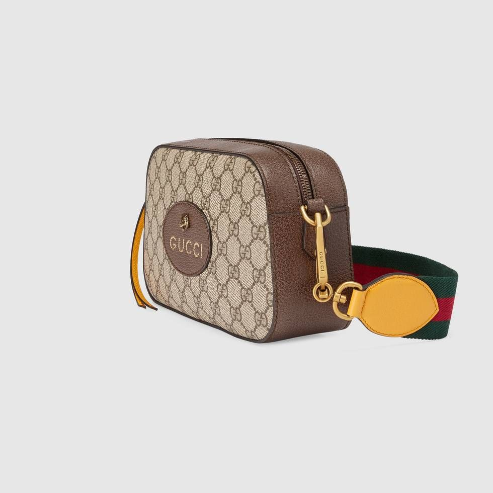 8d0d42e9d98 Shop the GG Supreme messenger bag by Gucci. A collection of vintage  inspired bags speaks to the contemporary voyager
