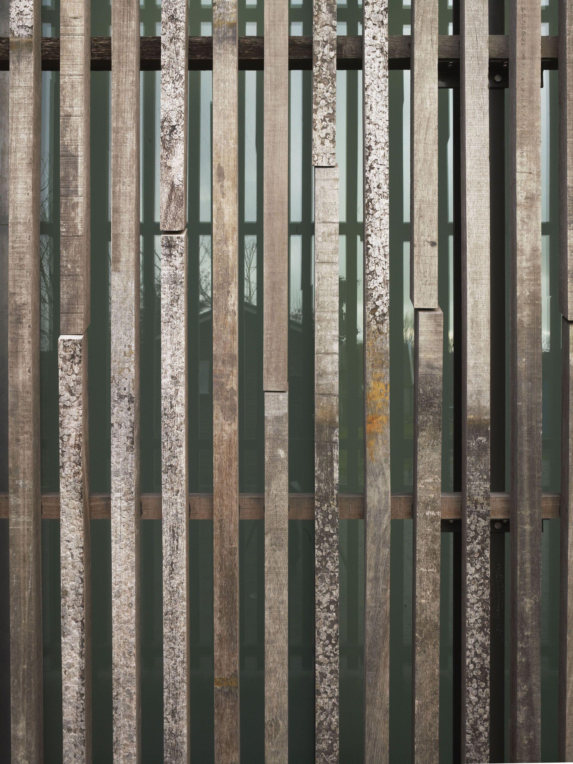 Glass Screening Timber Screen Timber Slats Vertical