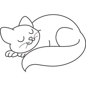 Cat Sleeping Clipart Image