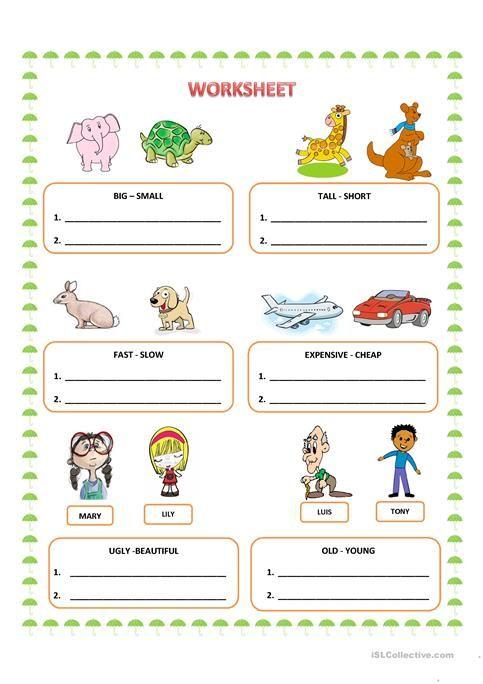 Comparatives Worksheets For Kids Adjective Worksheet Comparative Adjectives Adjectives Worksheets