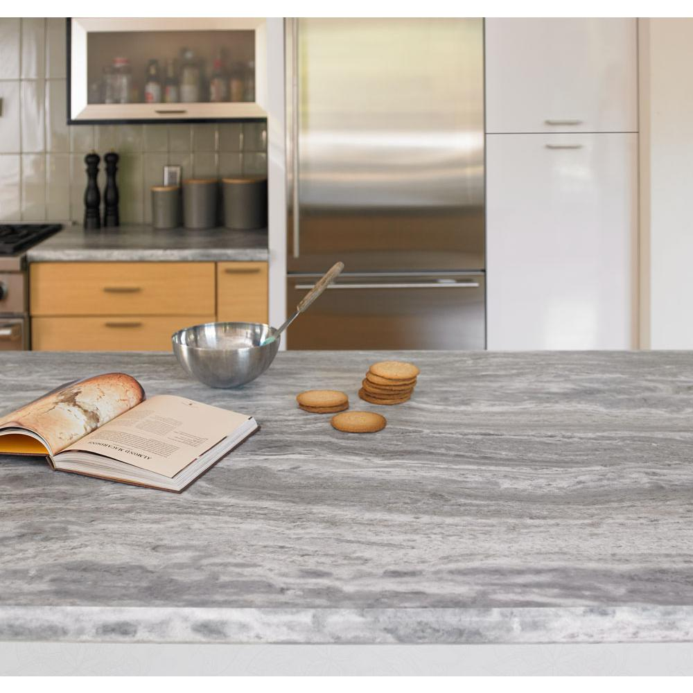 FORMICA 4 ft. x 8 ft. Laminate Sheet in 180fx Fantasy Marble with Scovato Finish-0930212… in 2020 | Kitchen countertops laminate. Replacing ...