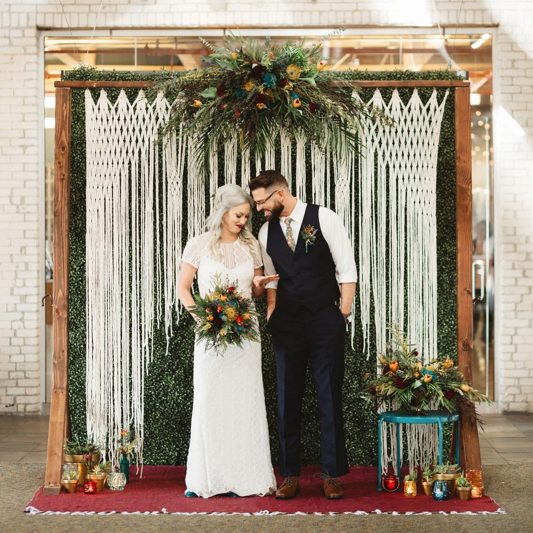 Handmade Wedding Altar: Handmade Wedding Backdrop Decor Rustic Bohemian Hanging