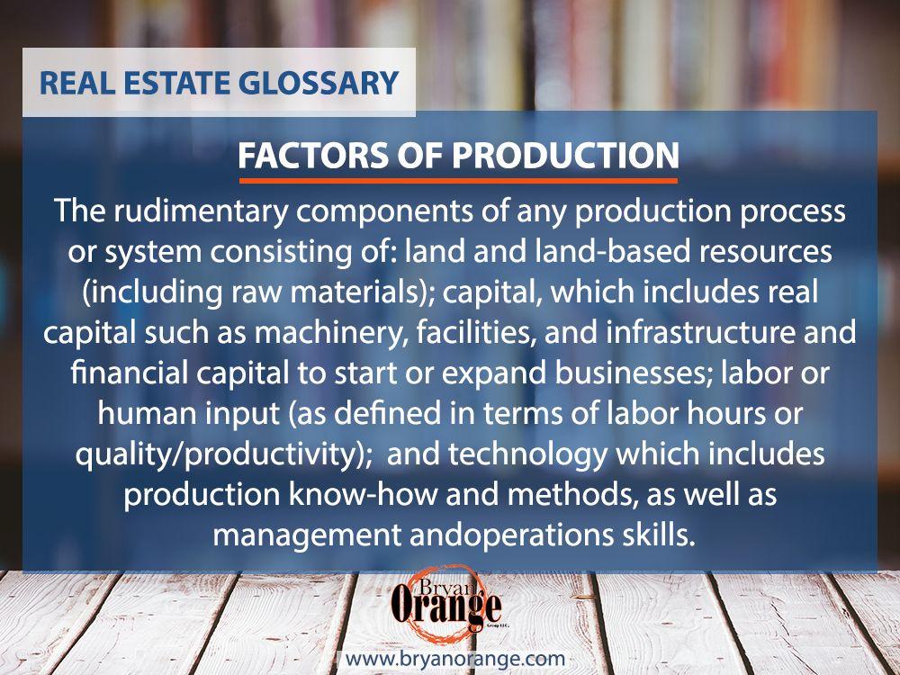 factors of production management