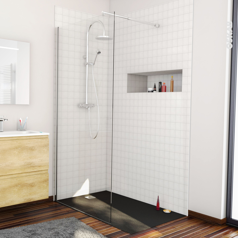 Receveur De Douche Extra Plat Bali Resine Rectangulaire 140x90 Cm Noir Receveur De Douche Salle De Bains Design Carrelage Douche