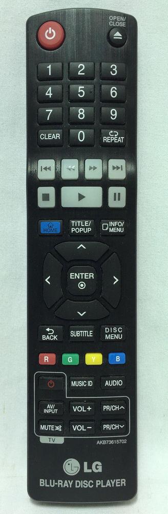 Genuine LG AKB73615702 BluRay DVD Player Remote Control