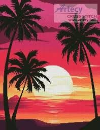 Image Result For Beginner Silhouette Painting Palm Trees Tree Painting Canvas Palm Trees Painting Sunset Canvas Painting