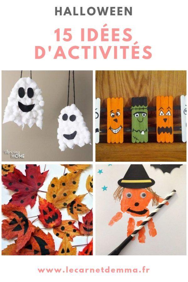 15 idées d'activités pour Halloween - Le Carnet d'Emma #activitemanuellehalloween