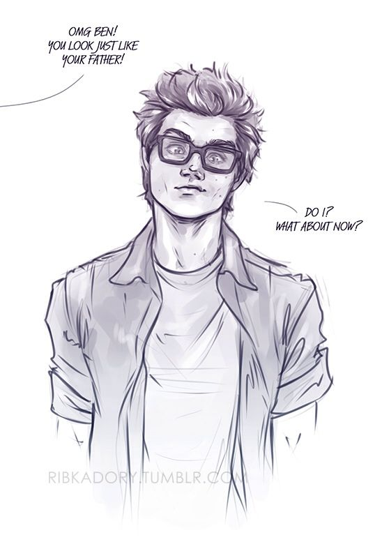 He found Peter's old glasses xD well, now you look just ...