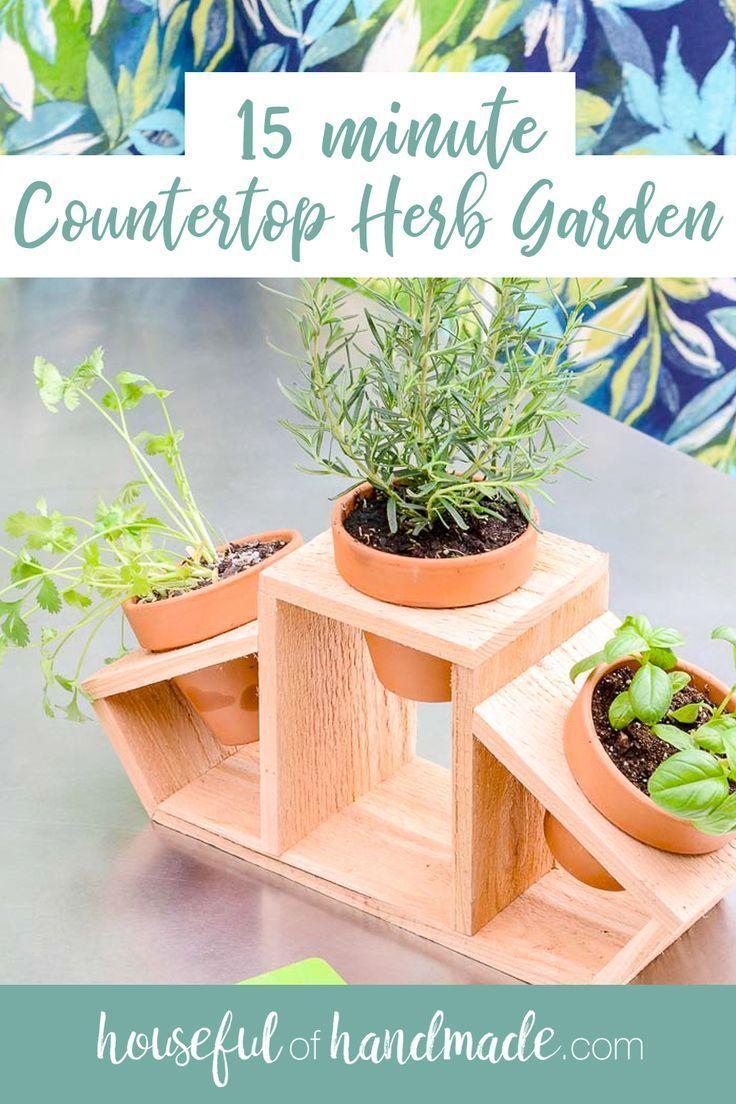9 minute Countertop Herb Garden   Garden crafts diy, Diy herb ...