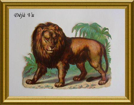 Victorian die cut : lion. www.dejavu.marktplaza.nl