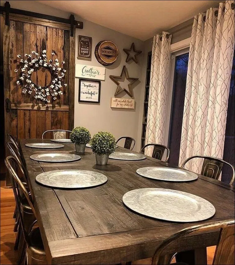 45 Impressive Farmhouse Dining Room Decor Ideas 12 Blogger Creative Farmhouse Farmhouse Dining Room Farmhouse Style Dining Room Farmhouse Dining Room Table
