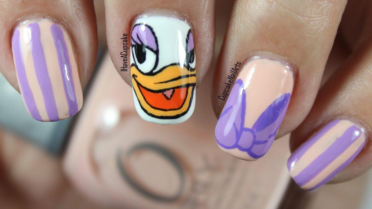 Daisy Duck by ihaveacupcake | Nails: Disney | Pinterest