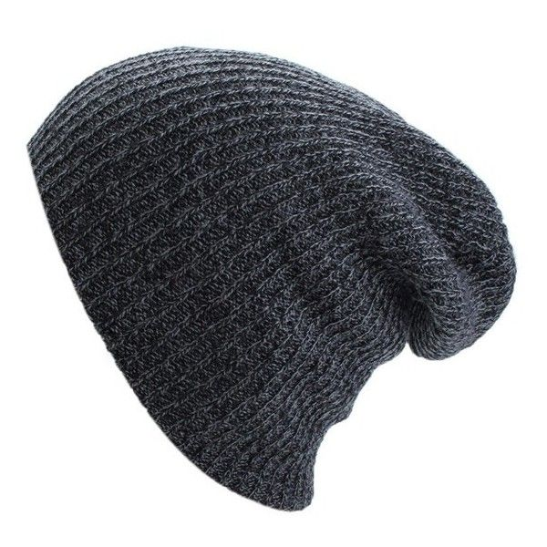 Knit Men's Women's Baggy Beanie Oversize Winter Hat Ski Slouchy Chic... (81 ARS) ❤ liked on Polyvore featuring men's fashion, men's accessories, men's hats, hats, accessories, mens ski hats, mens knit caps, mens beanie, mens slouchy beanie and mens caps and hats