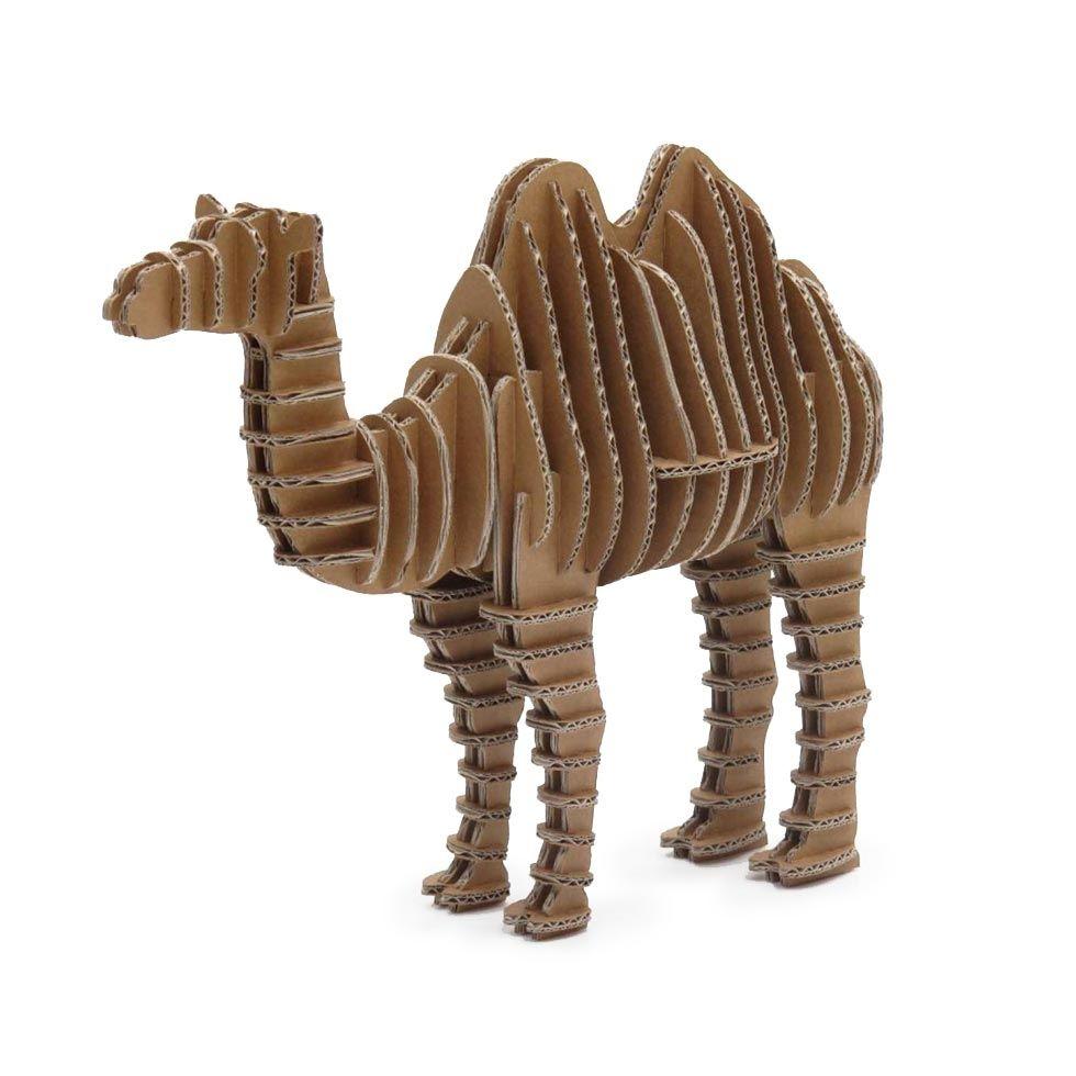 CAMELLO 3D DE CARTÓN. ¡Ya puedes construir un camello sin ...