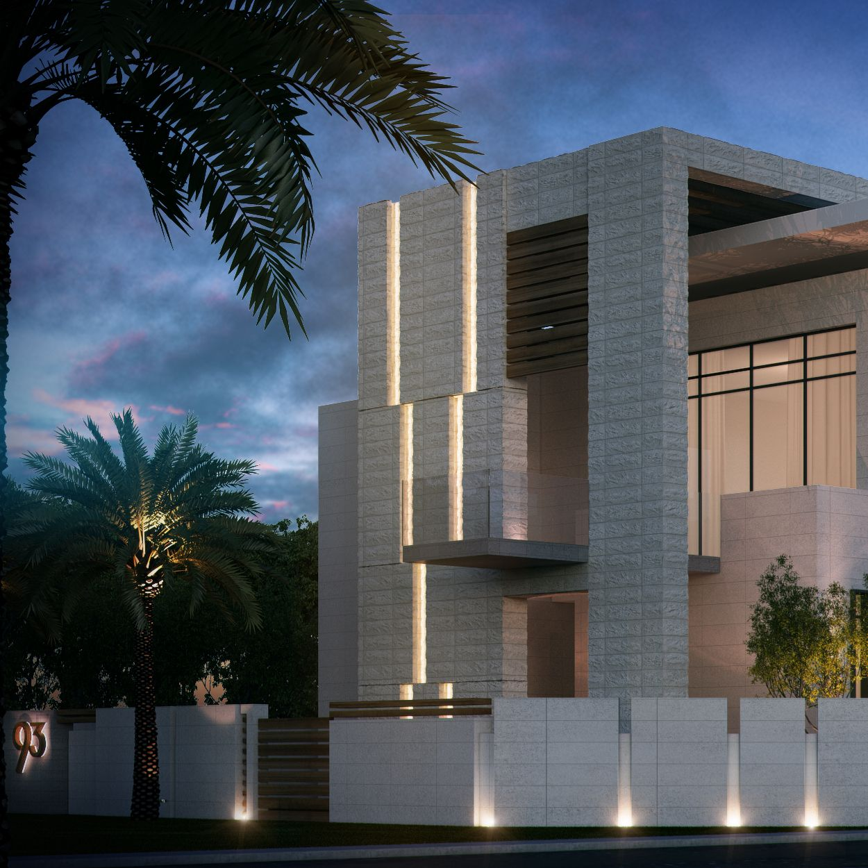 Private villa 2000 m uae sarah sadeq architects sarah for Modern house uae