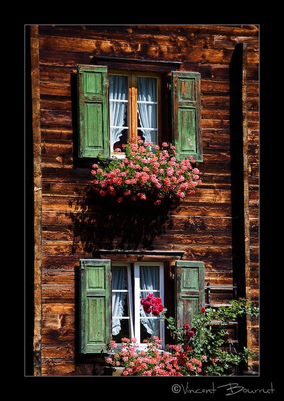Typical Swiss Windows Beautiful Doors Window Boxes Windows