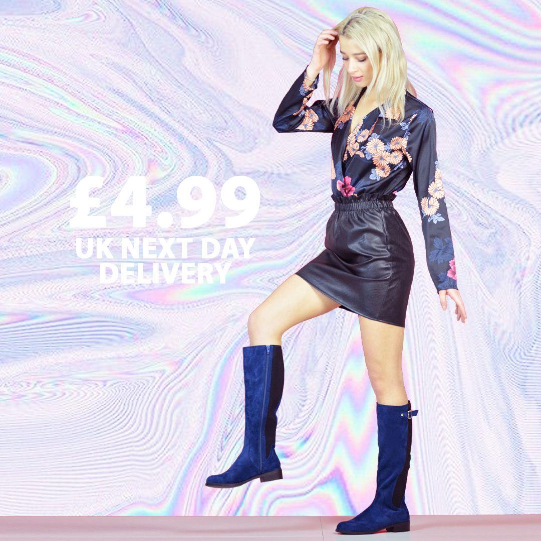 XY LONDON - JUNE BLUE FLORAL BLOCK HEELS @xylondonsquad