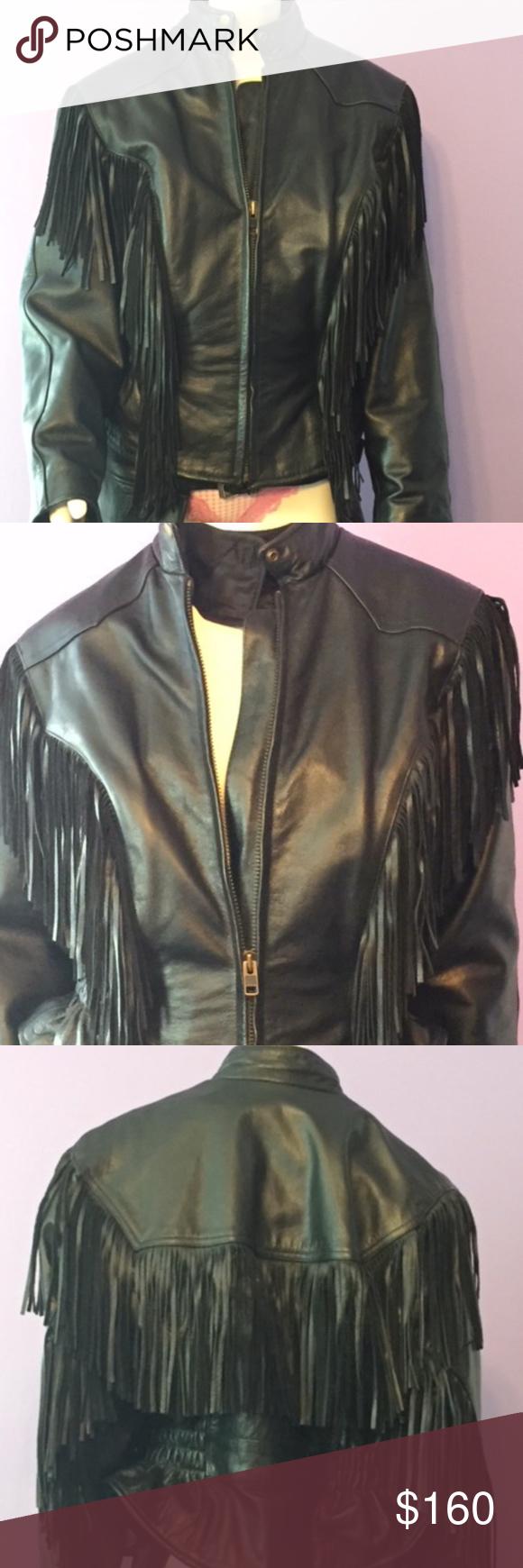 Leather Fringed Biker Jacket Embroidered Bomber Jacket Woven Jacket Leather Fringe [ 1740 x 580 Pixel ]