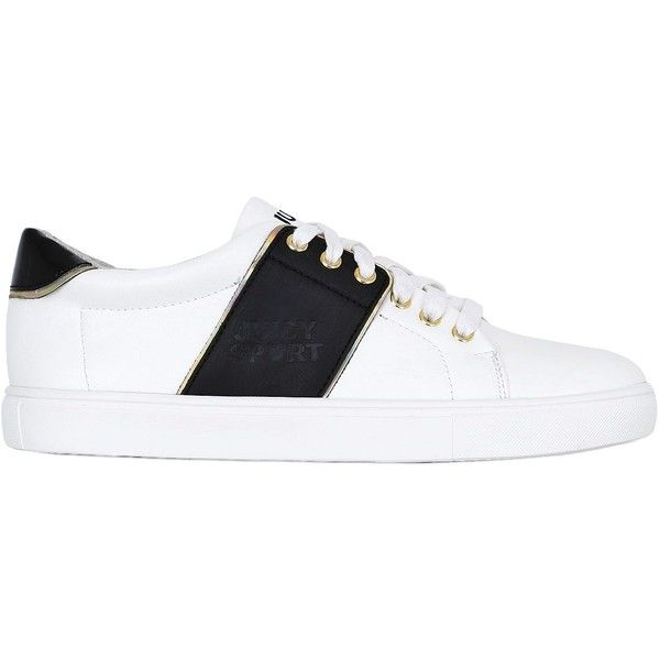 a56cfe8d7cae Juicy Couture Women 10mm Lovely Leather Sneakers ( 155) ❤ liked on Polyvore  featuring shoes