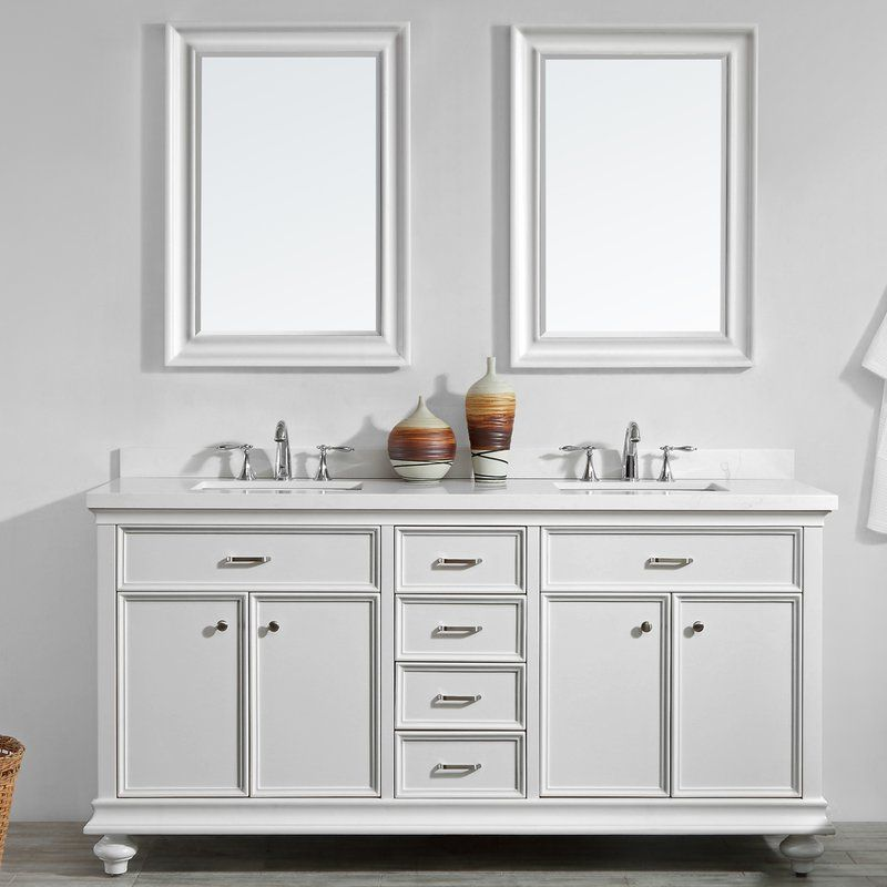 Weisner 72 Bathroom Vanity Set With Mirror With Images Vanity