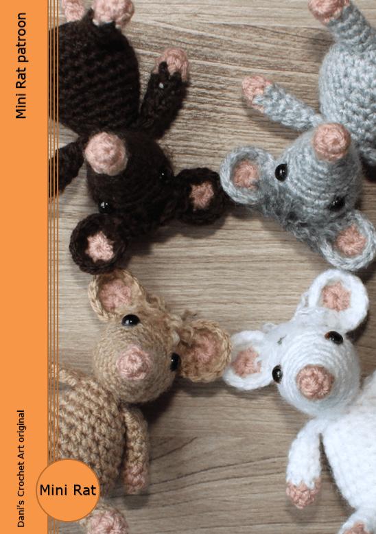 Mini Rat patroon (gratis) | crochetices | Pinterest | Tejido en ...