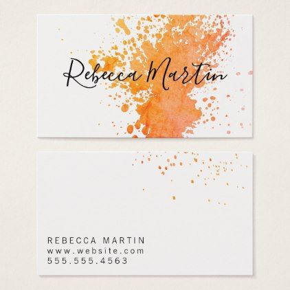Watercolor Artistic / Expressive Business Card - artists unique special customize presents
