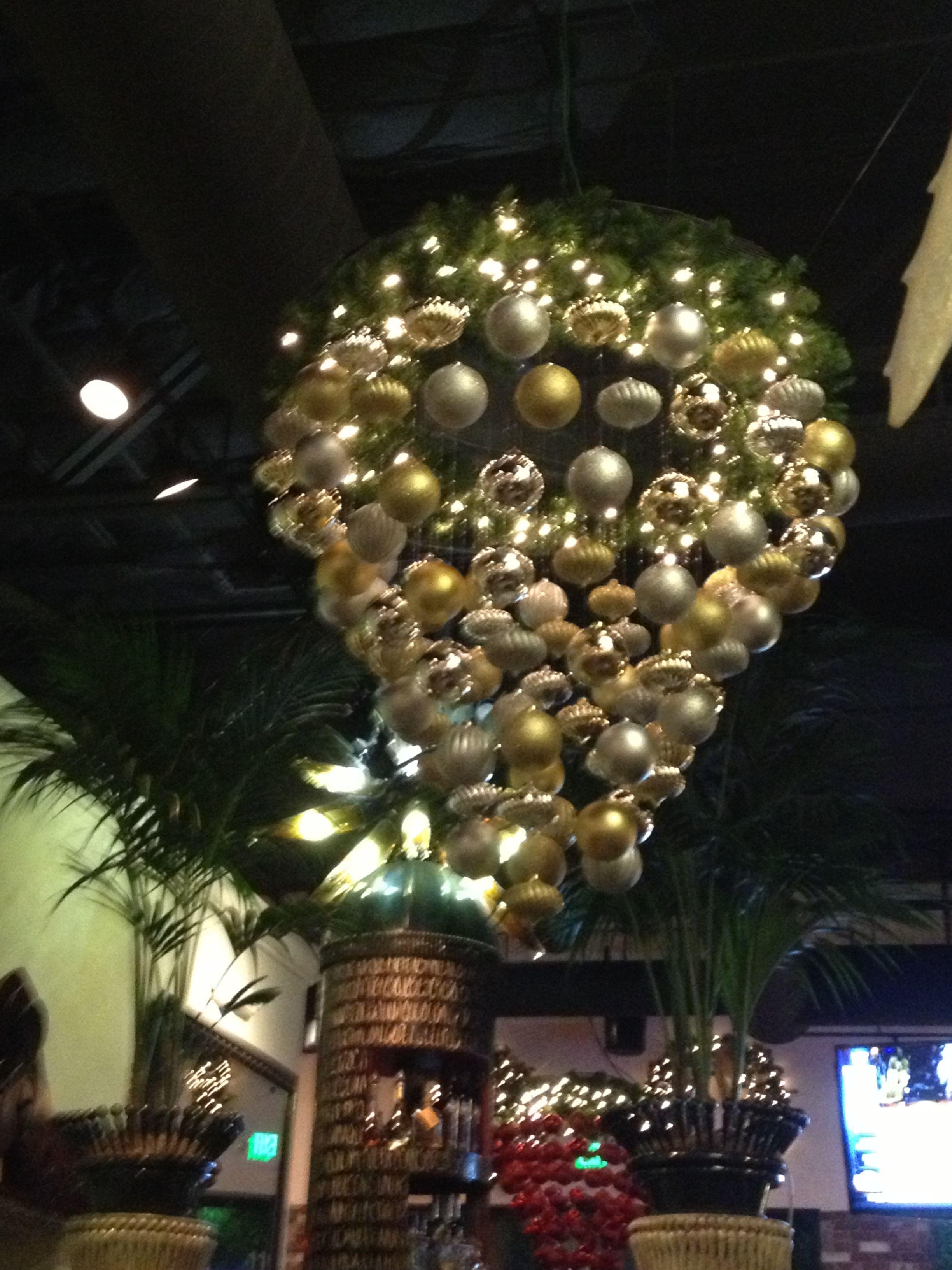 Diy christmas ball chandelier cute diy pinterest diy christmas diy christmas ball chandelier aloadofball Gallery
