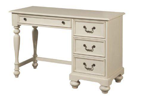 Bestseller Lea Retreat White Desk In Antique White 525 00 Antique White Desk White Desks Desk