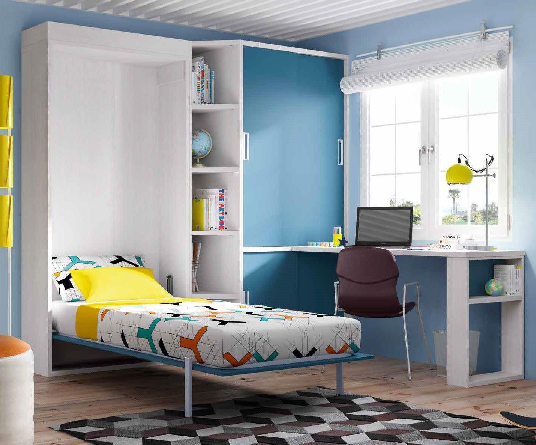 Habitación juvenil con cama plegable Alysa. Ámbar Muebles ... - photo#24
