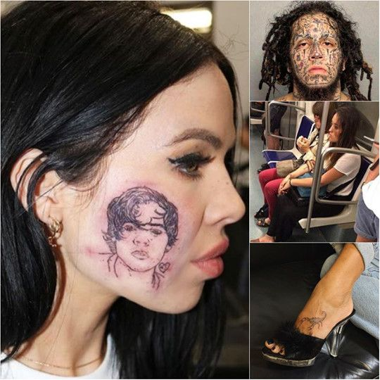 If everyone realized that a tattoo is something for life, then these people would have probably had a second thought about their tattoo decision. ✨😝😜 Learn more #tattoo #tattooed #tattoolife #tattooist #ink #inked #tattooaddict #tattooworld #tattoostyle #tattooing #tattoolovers #inkedlife #fails #failoftheday