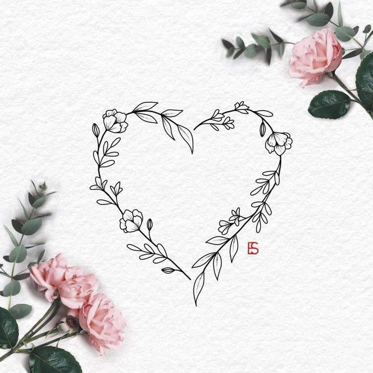Heart Tattoo Tattoo Heart Tattoo Tattoo Flower Tattoo Designs Floral Tattoo Design Flower Tattoo