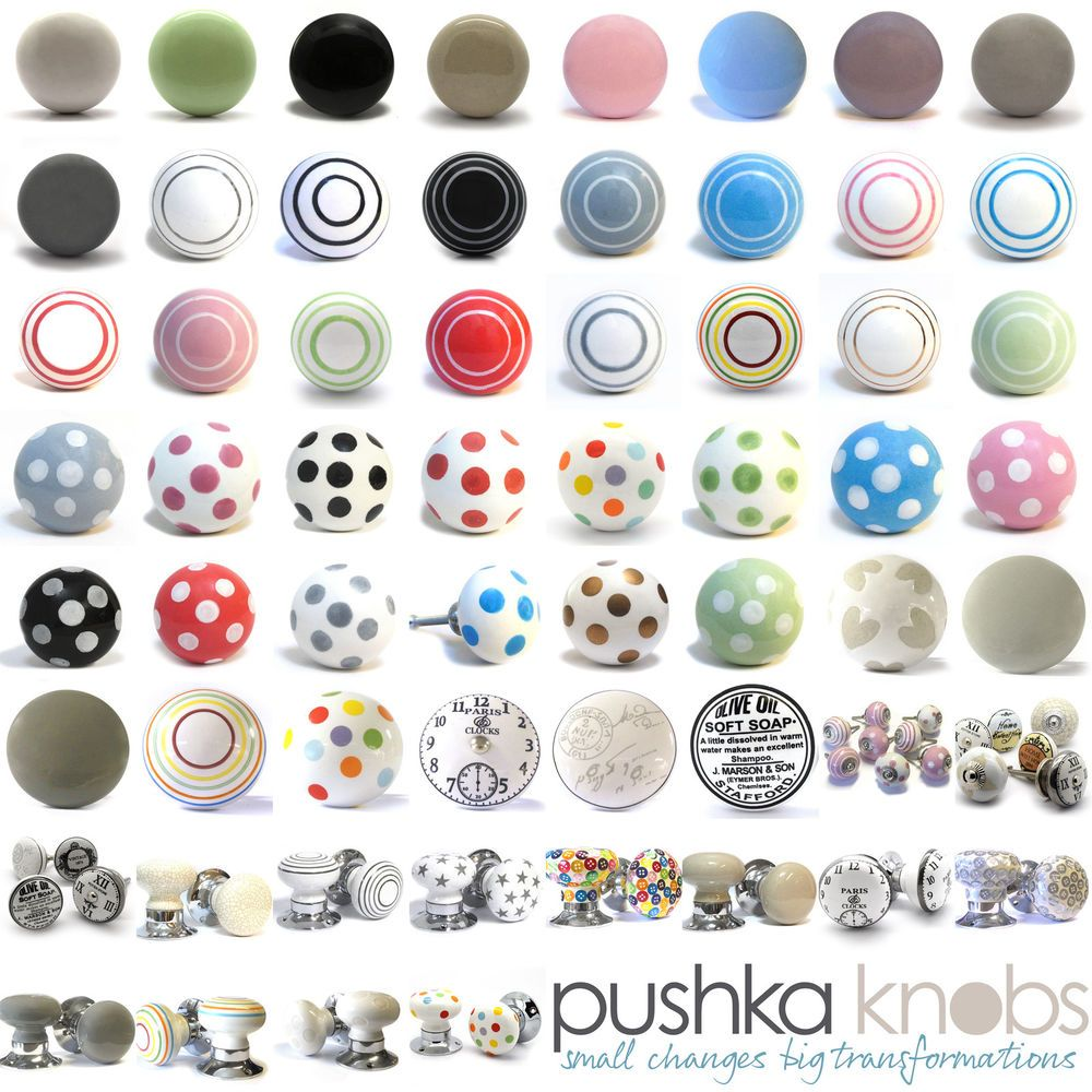Polished Chrome Knobs Cupcakes 38mm Cupboard Drawer Door Handles Decorated