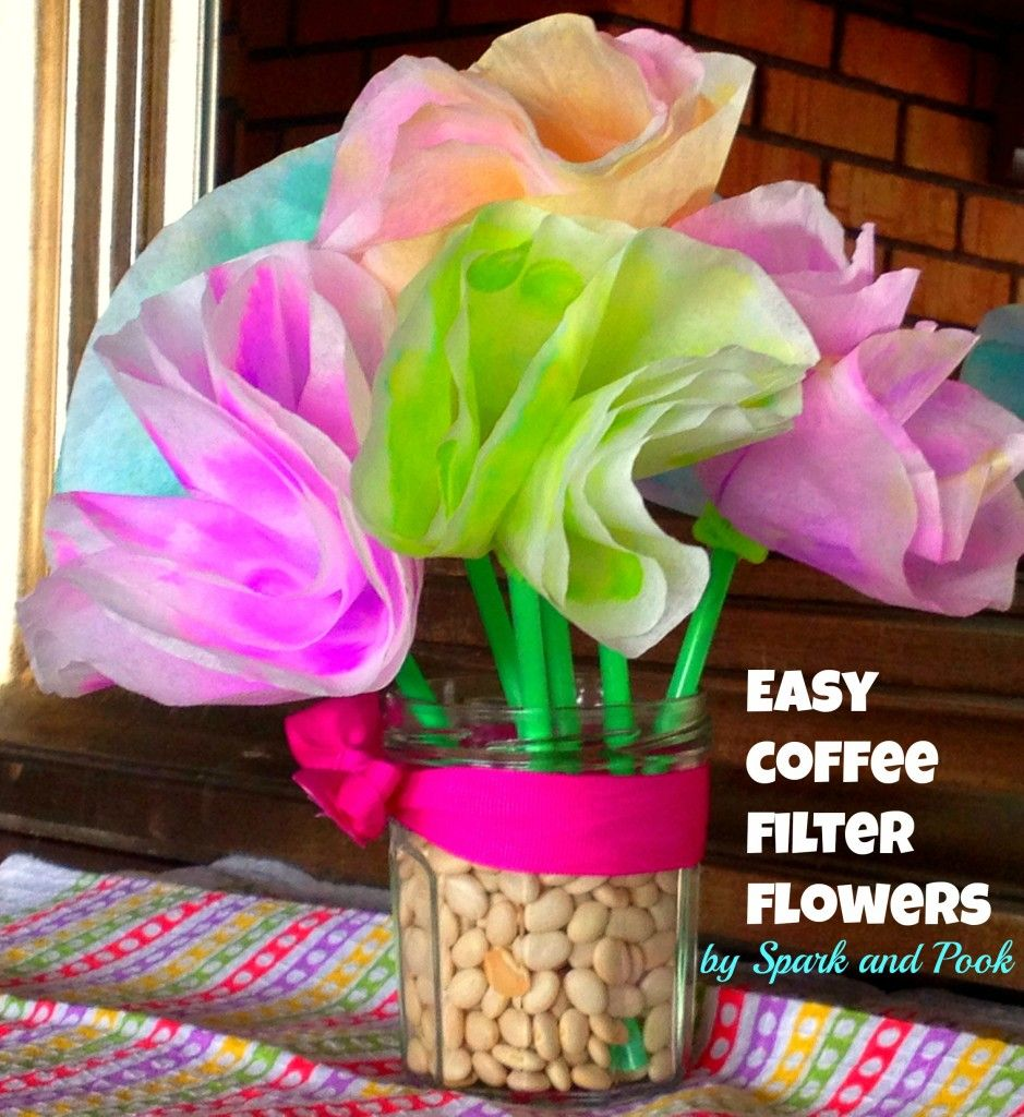 An Easy Coffee Filter Flower Craft For Toddlers Spring