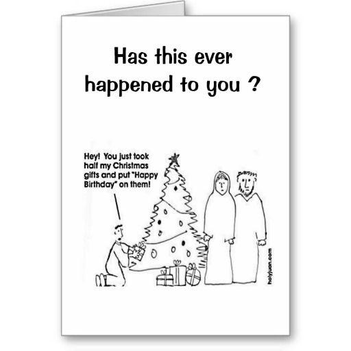 Funny Christmas Birthday Card Zazzle Com Christmas Birthday Cards Funny Birthday Cards Christmas Birthday