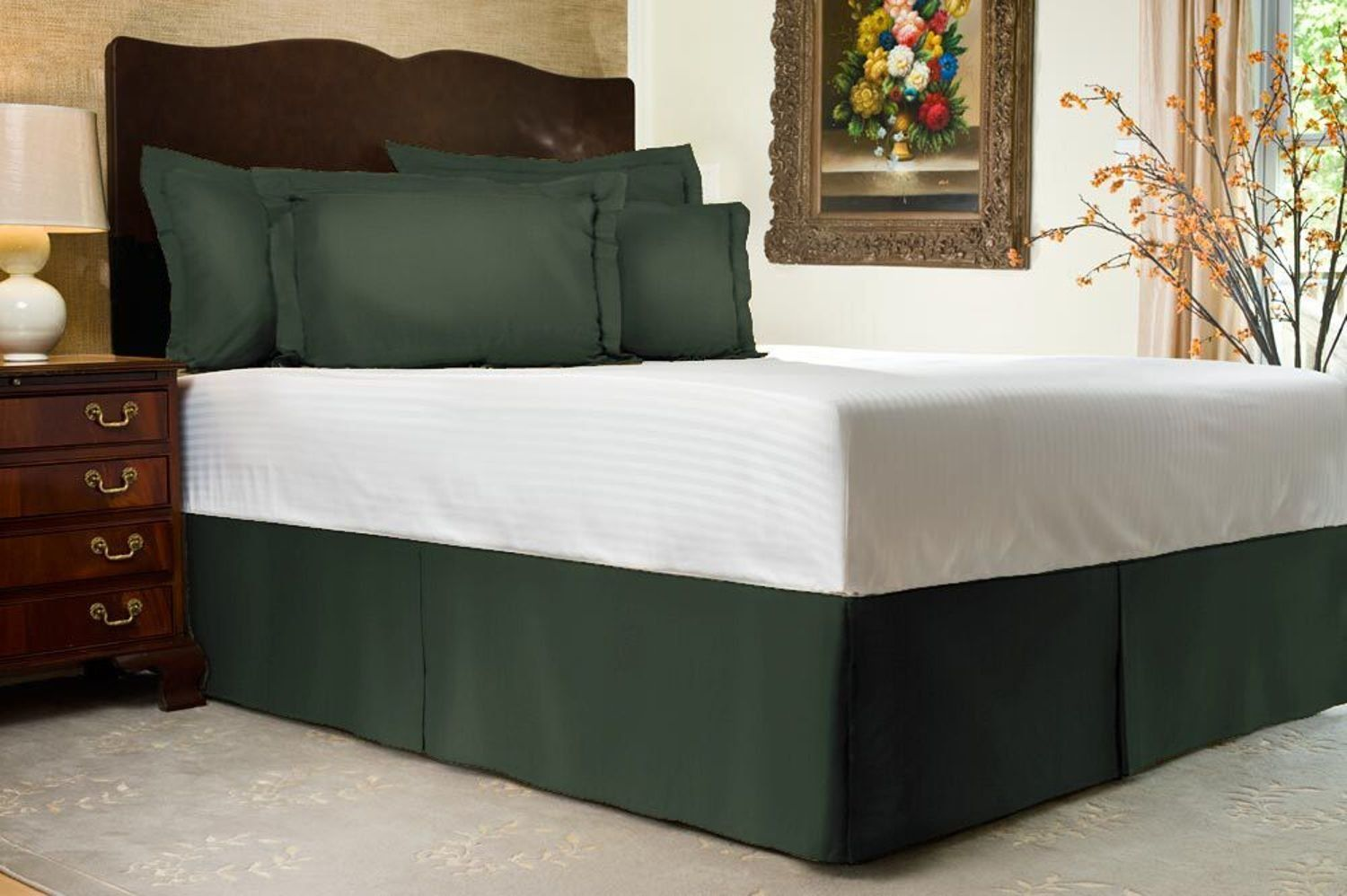 Shop Bedding Harmony Lane Tailored Bed Skirt 14 inch Drop