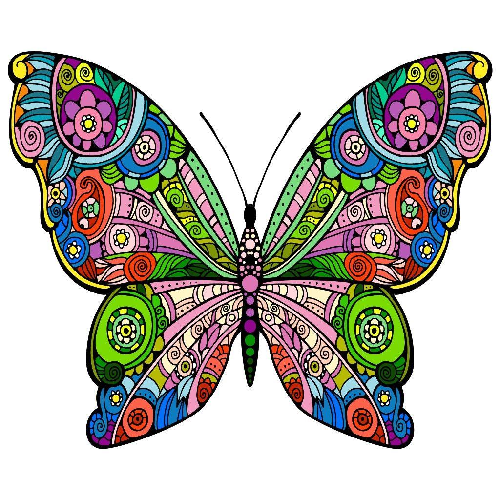 Butterfly Mandalas Para Colorear Animales Mandalas De Colores Arte De Mariposa