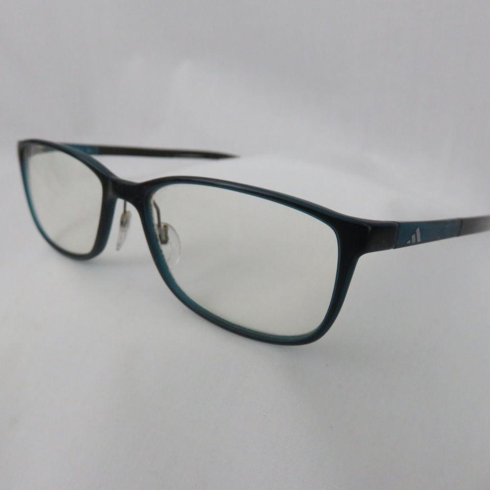 6a1a54dd25a Adidas Teal Blue Rectangular Rim 140 Designer Eyeglass Frames Women  adidas
