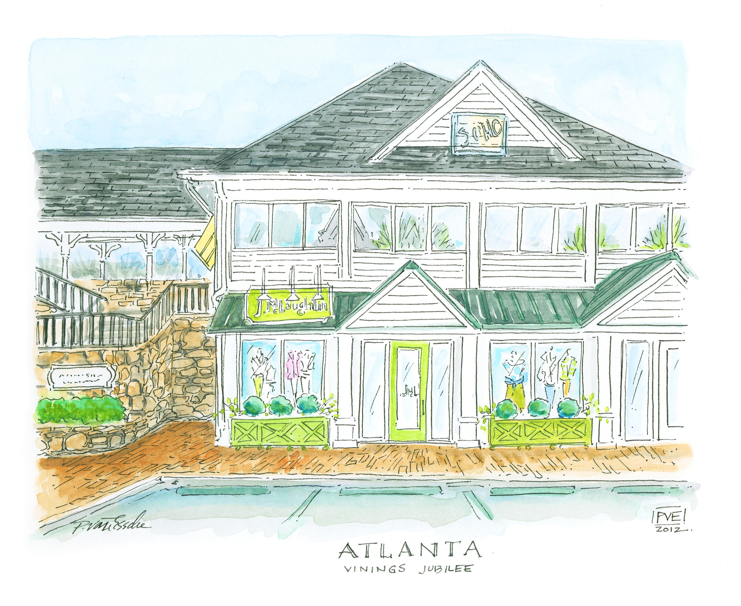 Atlanta Ga Store Illustration Design Illustration Painting