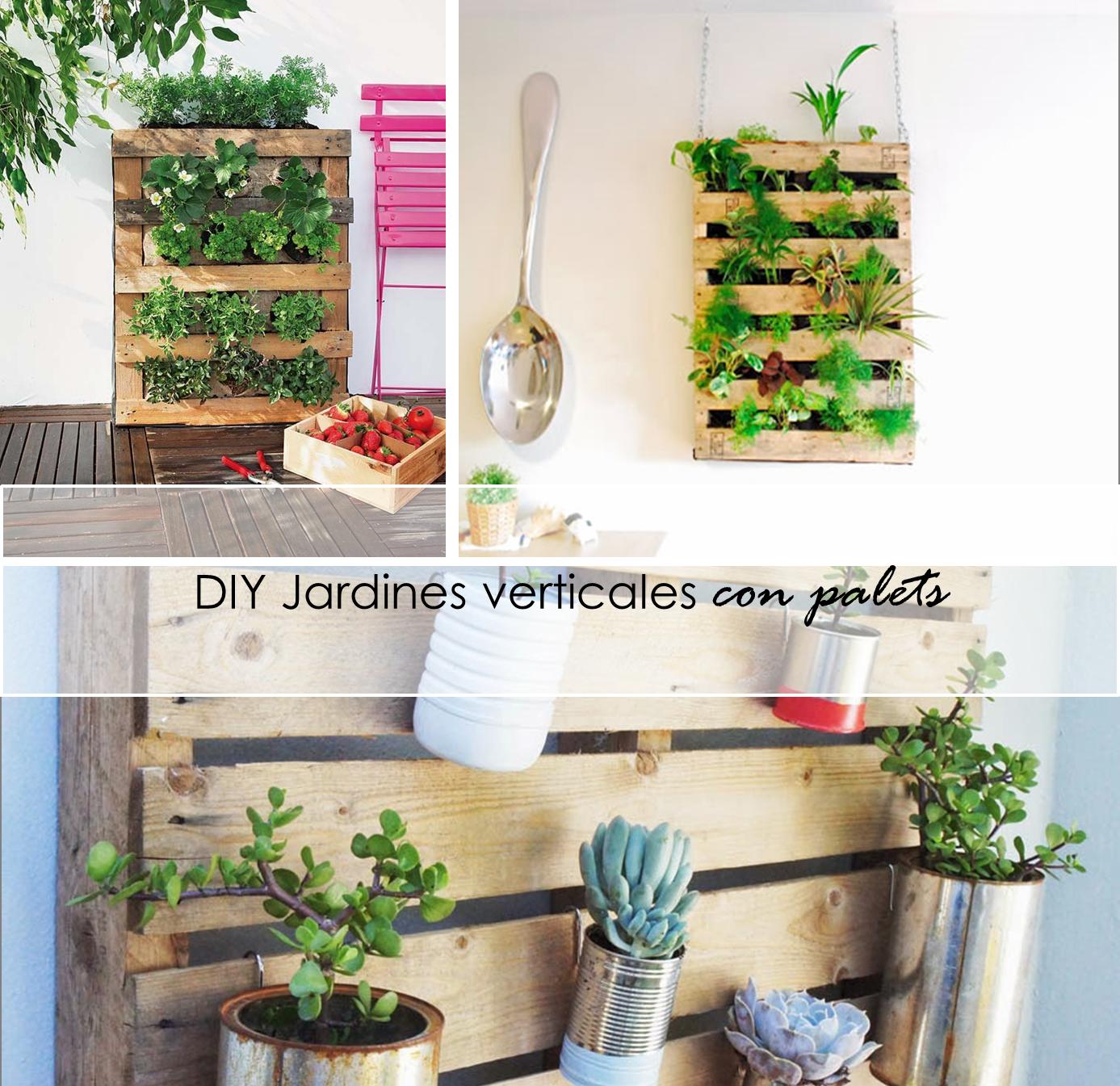 2 tutoriales para elaborar tu propio jardín vertical con Palets