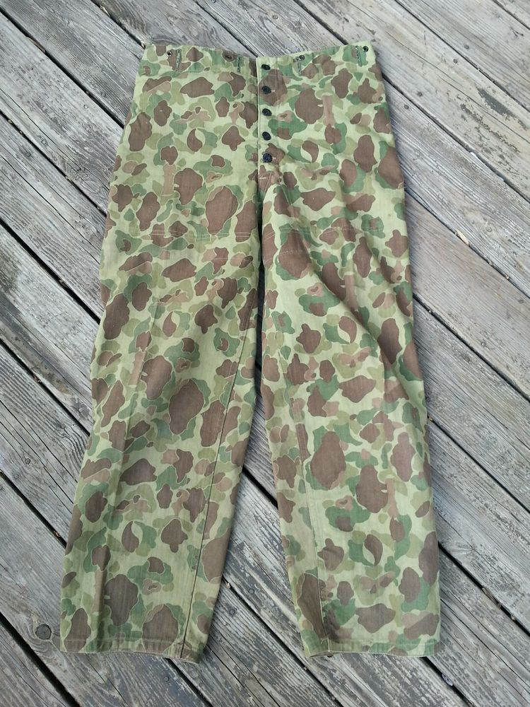 World War 2 Usmc Frogskin Camouflage Hbt Reversible Pants