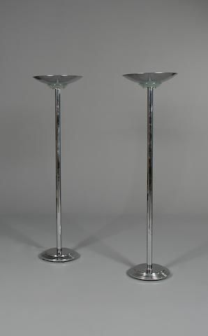 A Pair Of Chrome And Glass Art Deco Style Uplighters Lamps Art Deco Lighting Art Deco Art Deco Fashion