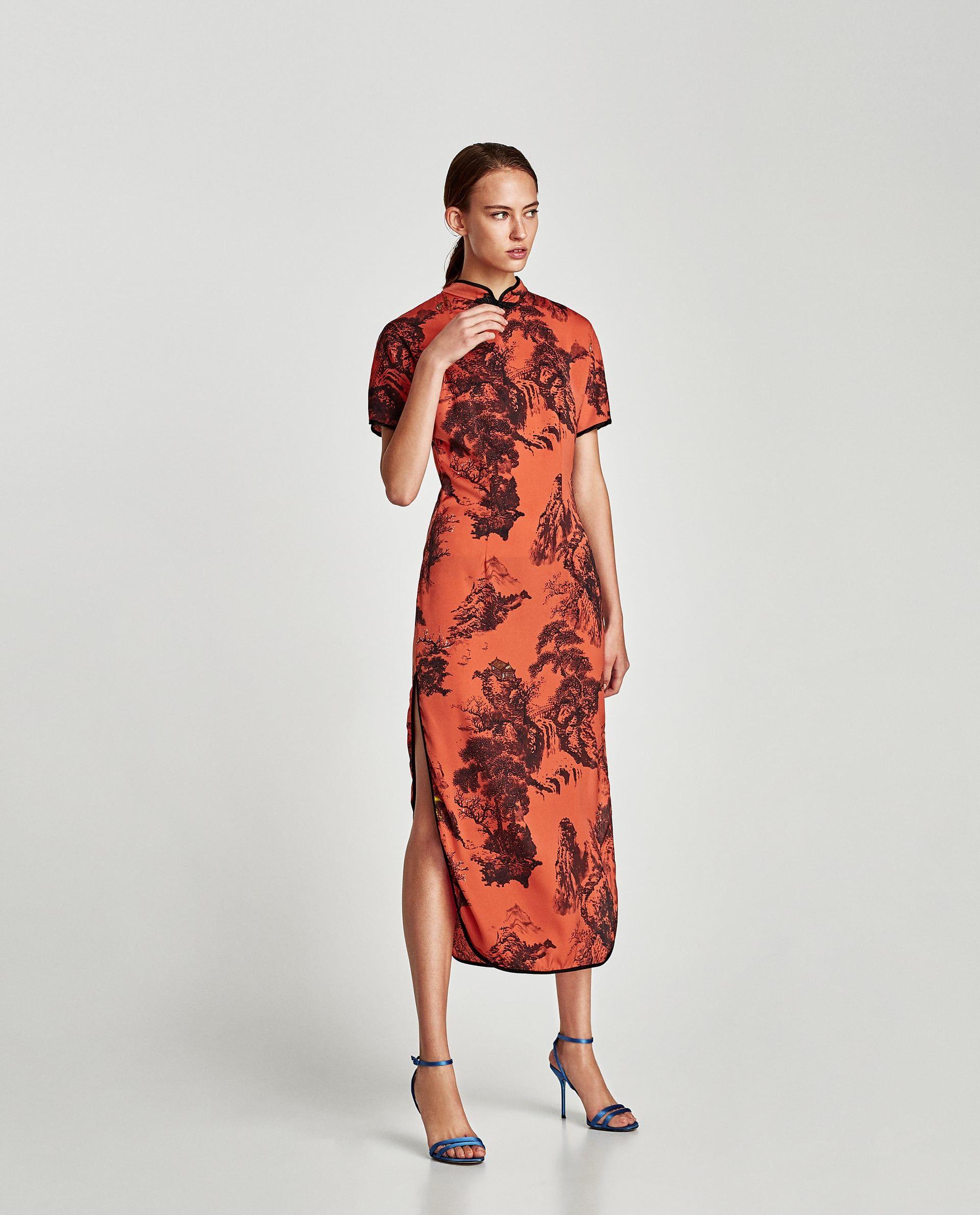150fd824 Image 1 of PRINTED SATIN DRESS from Zara | dresses size 2/4 | Satin ...