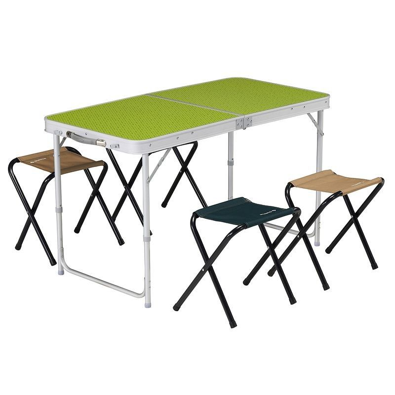 Mobilier camping table 4 personnes avec 4 si ges vert quechua table pliante table et - Table picnic pliante decathlon ...