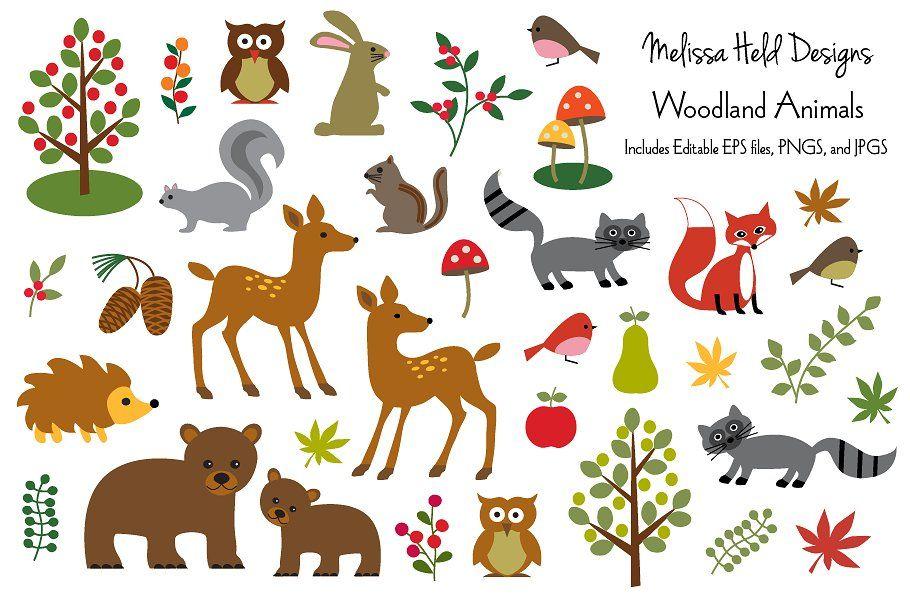 Woodland Animals Clipart Animal Clipart Woodland Animals Clip Art