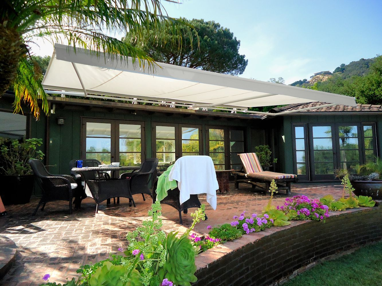 Retractable Awnings By Superior Awning Let The Sun Shine Retractable Awning Awning Pool Houses