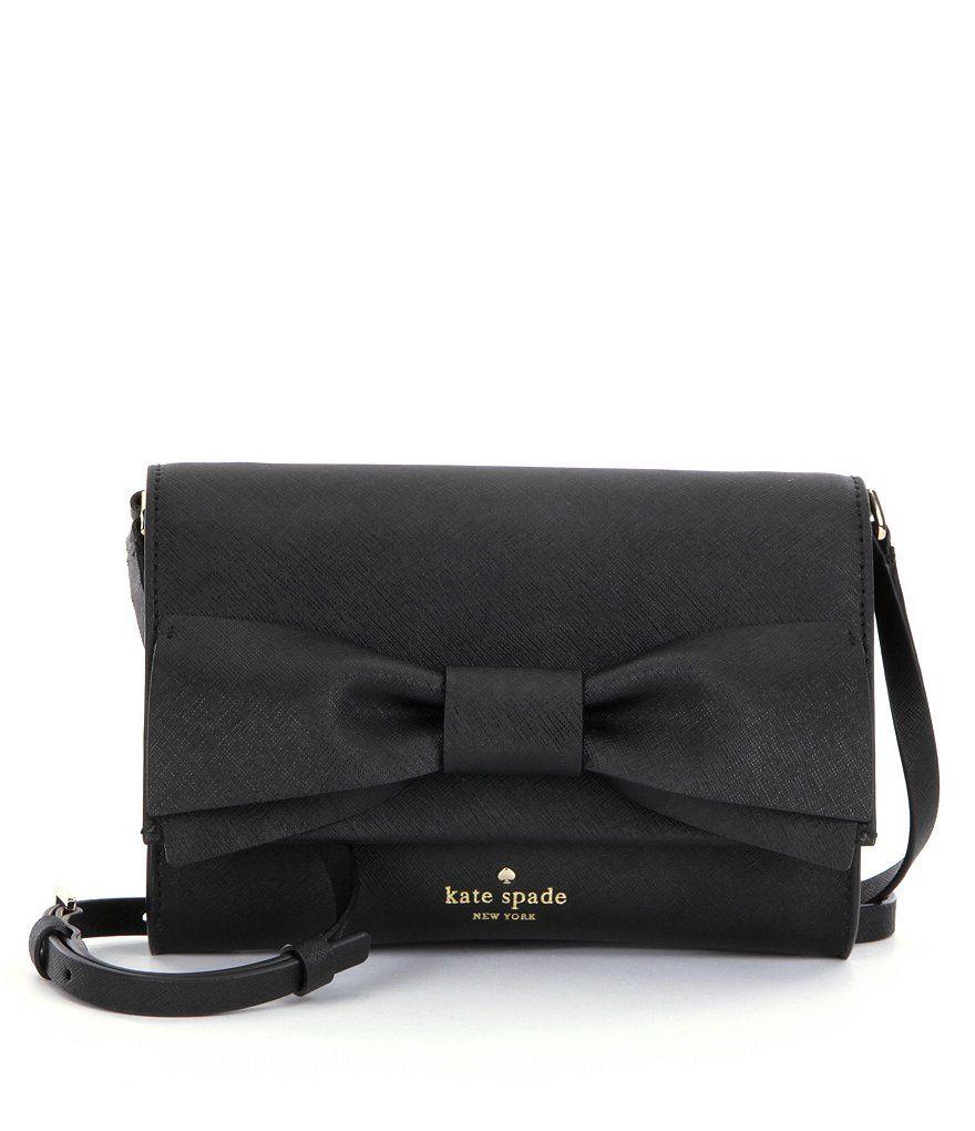 Black:kate spade new york Clement Street Francie Bow Cross-Body Bag