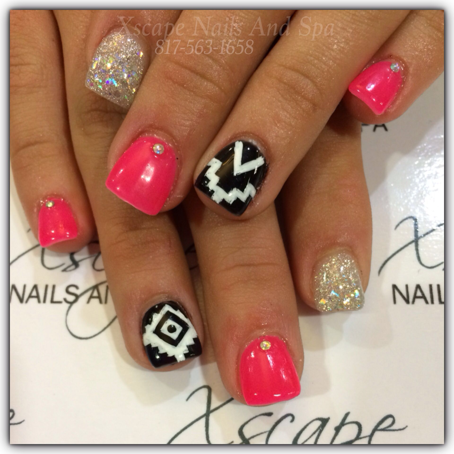 aztec nail design cute nails