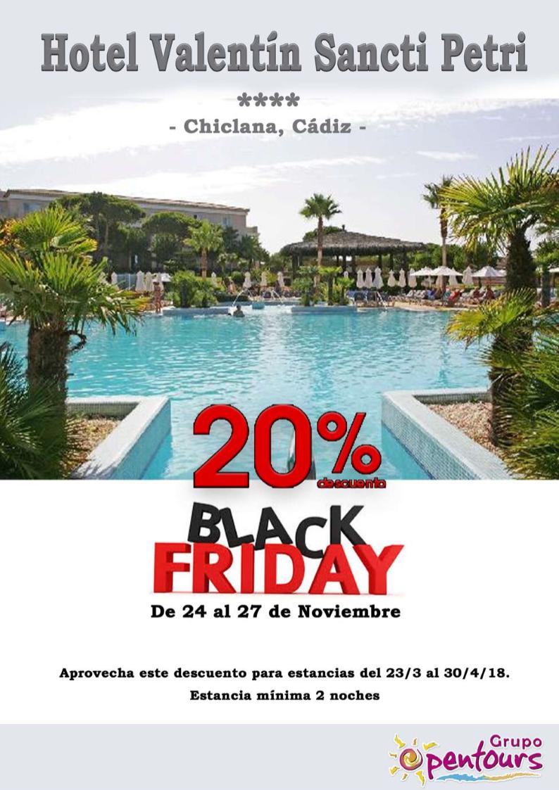 Hotel Valentín Sancti Petri **** (Chiclana, Cádiz) --- Especial BLACK FRIDAY ------> 20% de descuento --- Reservas del 24 al 27 de Noviembre, para estancias del 23 de Marzo al 30 de Abril de 2018 --- Más info y condiciones de esta oferta en www.opentours.es --- #valentinsanctipetri #chiclana #cadiz #costadelaluz #andalucia #blackfriday #verano2018 #escapadas #ofertas #hoteles #agentesdeviajes #agenciasdeviajes #opentours #grupoopentours